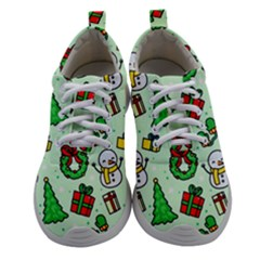 Colorful Funny Christmas Pattern Cartoon Women Athletic Shoes