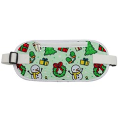 Colorful Funny Christmas Pattern Cartoon Rounded Waist Pouch