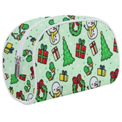 Colorful Funny Christmas Pattern Cartoon Makeup Case (medium)