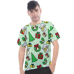 Colorful Funny Christmas Pattern Cartoon Men s Sport Top