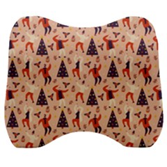 Funny Christmas Pattern Velour Head Support Cushion