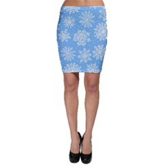 Hand Drawn Snowflakes Seamless Pattern Bodycon Skirt