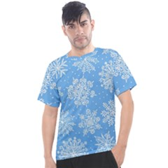 Hand Drawn Snowflakes Seamless Pattern Men s Sport Top