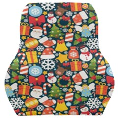 Colorful Pattern With Decorative Christmas Elements Car Seat Back Cushion