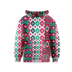 Flat Design Christmas Pattern Collection Kids  Pullover Hoodie