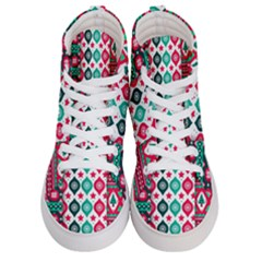 Flat Design Christmas Pattern Collection Women s Hi Top Skate Sneakers