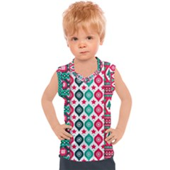 Flat Design Christmas Pattern Collection Kids  Sport Tank Top