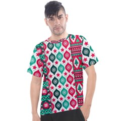 Flat Design Christmas Pattern Collection Men s Sport Top