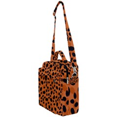 Orange Cheetah Animal Print Crossbody Day Bag by mccallacoulture