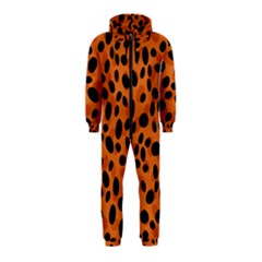 Orange Cheetah Animal Print Hooded Jumpsuit (kids) by mccallacoulture