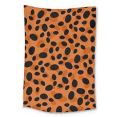 Orange Cheetah Animal Print Large Tapestry by mccallacoulture