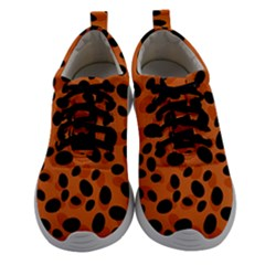 Orange Cheetah Animal Print Women Athletic Shoes