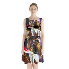 Wildfire 1 1 Sleeveless Waist Tie Chiffon Dress