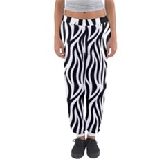 Thin Zebra Animal Print Women s Jogger Sweatpants by mccallacoulture