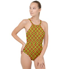 Rby-b-7-9 High Neck One Piece Swimsuit