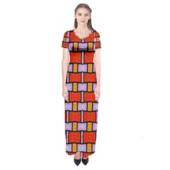 Abstract Q 9 Short Sleeve Maxi Dress