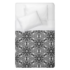 Black And White Pattern Duvet Cover (single Size)