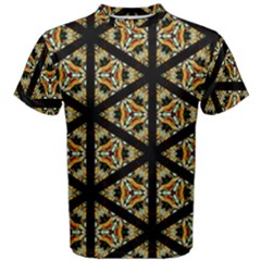 Pattern Stained Glass Triangles Men s Cotton Tee