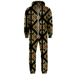 Pattern Stained Glass Triangles Hooded Jumpsuit (men)