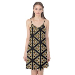 Pattern Stained Glass Triangles Camis Nightgown