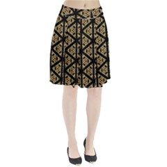 Pattern Stained Glass Triangles Pleated Skirt