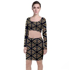 Pattern Stained Glass Triangles Top And Skirt Sets