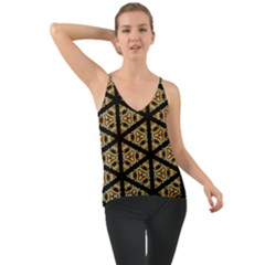 Pattern Stained Glass Triangles Chiffon Cami by HermanTelo