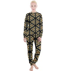 Pattern Stained Glass Triangles Women s Lounge Set