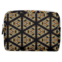 Pattern Stained Glass Triangles Make Up Pouch (medium)