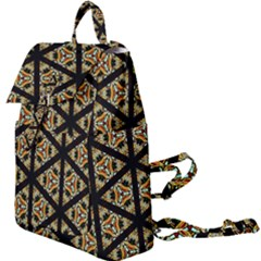 Pattern Stained Glass Triangles Buckle Everyday Backpack by HermanTelo