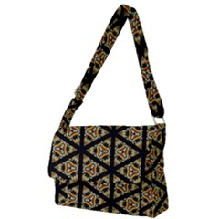 Pattern Stained Glass Triangles Full Print Messenger Bag (l) by HermanTelo