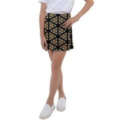 Pattern Stained Glass Triangles Kids  Tennis Skirt by HermanTelo
