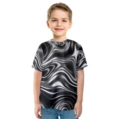 Wave Abstract Lines Kids  Sport Mesh Tee