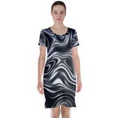 Wave Abstract Lines Short Sleeve Nightdress