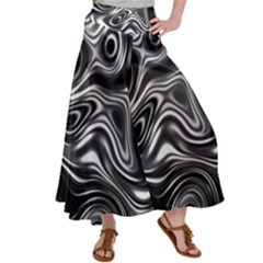 Wave Abstract Lines Satin Palazzo Pants by HermanTelo