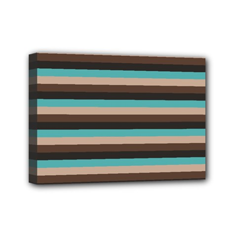Stripey 1 Mini Canvas 7  X 5  (stretched) by anthromahe
