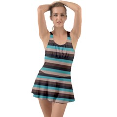 Stripey 1 Ruffle Top Dress Swimsuit