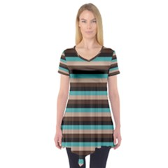 Stripey 1 Short Sleeve Tunic  by anthromahe