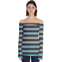 Stripey 1 Off Shoulder Long Sleeve Top by anthromahe