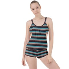 Stripey 1 Boyleg Tankini Set  by anthromahe