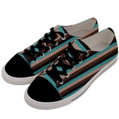Stripey 1 Men s Low Top Canvas Sneakers by anthromahe
