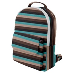 Stripey 1 Flap Pocket Backpack (small) by anthromahe