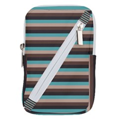 Stripey 1 Belt Pouch Bag (large) by anthromahe