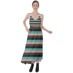 Stripey 1 Tie Back Maxi Dress by anthromahe