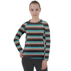 Stripey 1 Women s Long Sleeve Raglan Tee