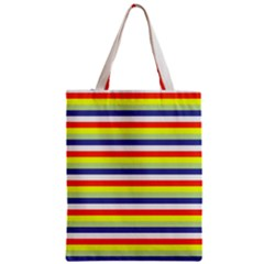 Stripey 2 Zipper Classic Tote Bag by anthromahe