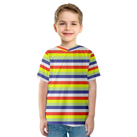 Stripey 2 Kids  Sport Mesh Tee by anthromahe