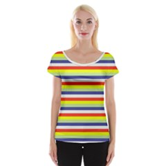 Stripey 2 Cap Sleeve Top by anthromahe