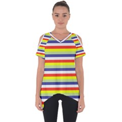 Stripey 2 Cut Out Side Drop Tee by anthromahe