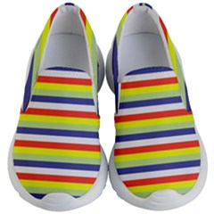 Stripey 2 Kids Lightweight Slip Ons by anthromahe